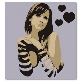 Αφίσα (ρομαντικός, κορίτσι, μαύρο, λευκό, άσπρο)